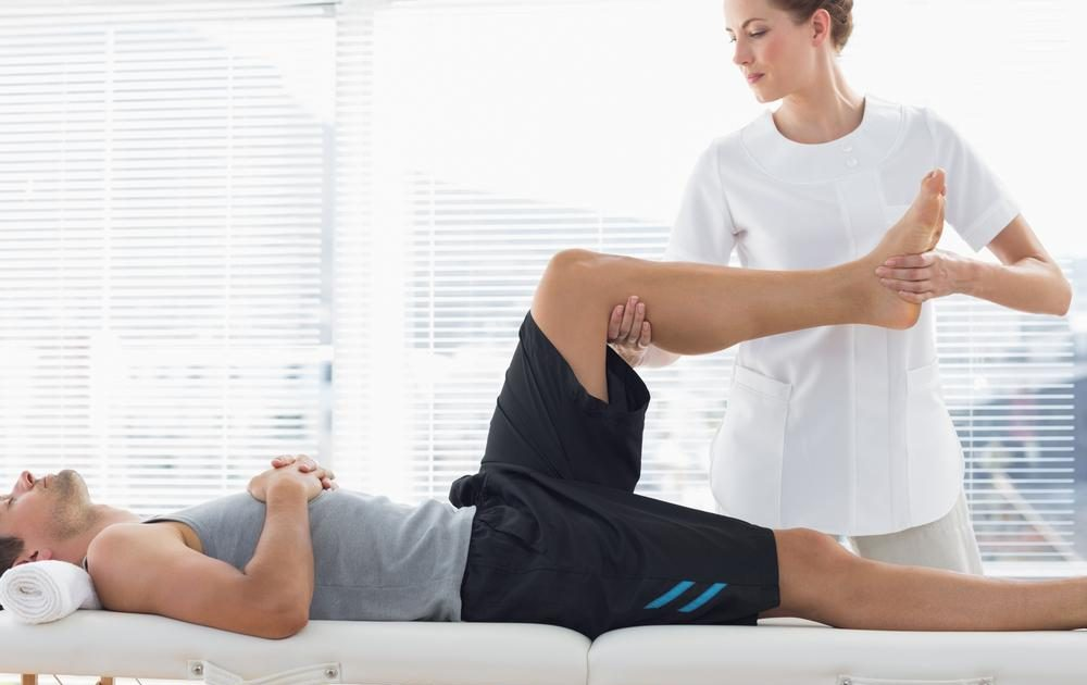Physio PT Leg stretching